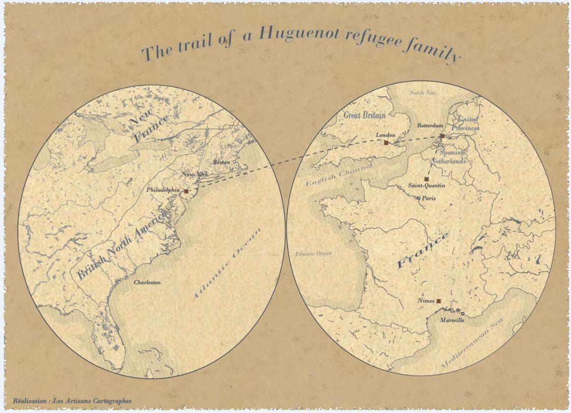 Parcours de réfugié huguenot